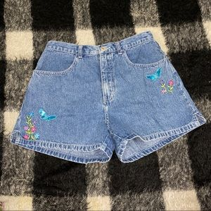 Vtg limited too butterfly high rise jean short 2 4